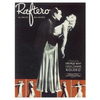 Raftero Bolero - Vintage Song Sheet Music Art