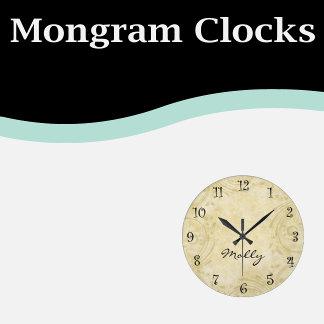 Monogram Clocks
