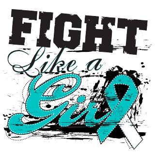 Fight Like a Girl Spray Paint - Cervical Cancer