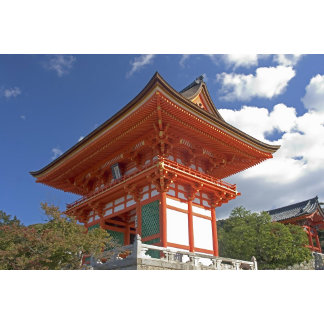 Japan, Kyoto, Soaring Gate of Temple