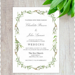 Greenery Botanical Wedding Invitations