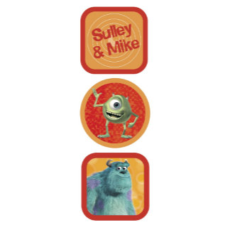 Monsters, Inc. Sulley and Mike Design