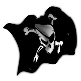 Jolly Roger Waving Pirate Flag