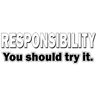 Responsibility. You Should Try It.