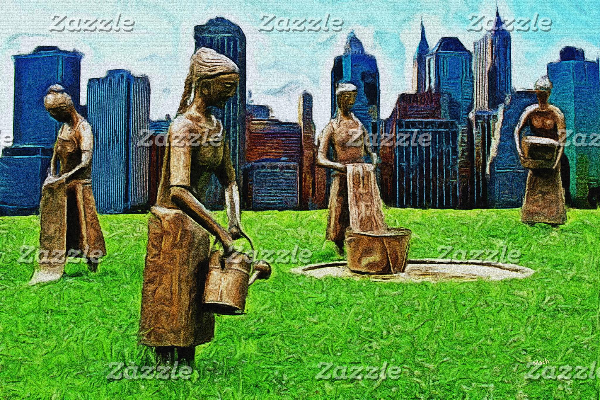 Washerwomen in New York