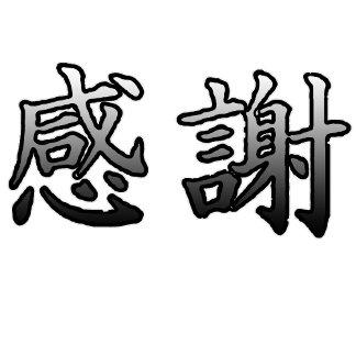 Kanji Symbol for Gratitude