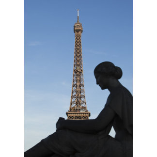 France, Paris, Statue of woman in front of