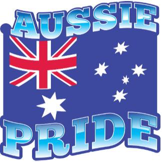 AUSSIE PRIDE with an Australian Flag