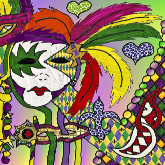 Mardi Gras Feather Mask Art Print