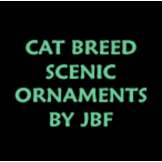 CAT SCENIC ORNAMENTS by JF