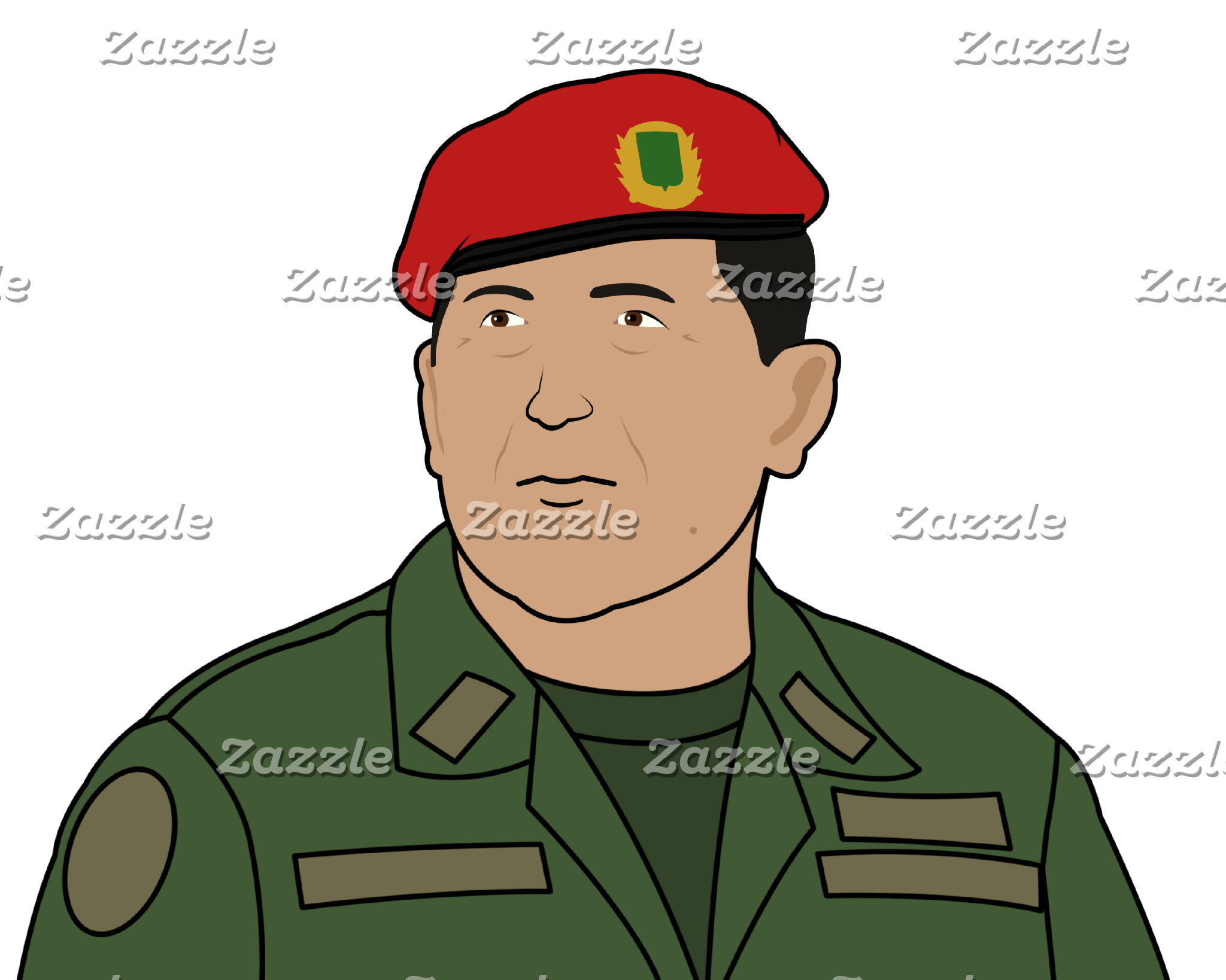 Hugo Chavez - Hugo the Red Hat Cartoon style