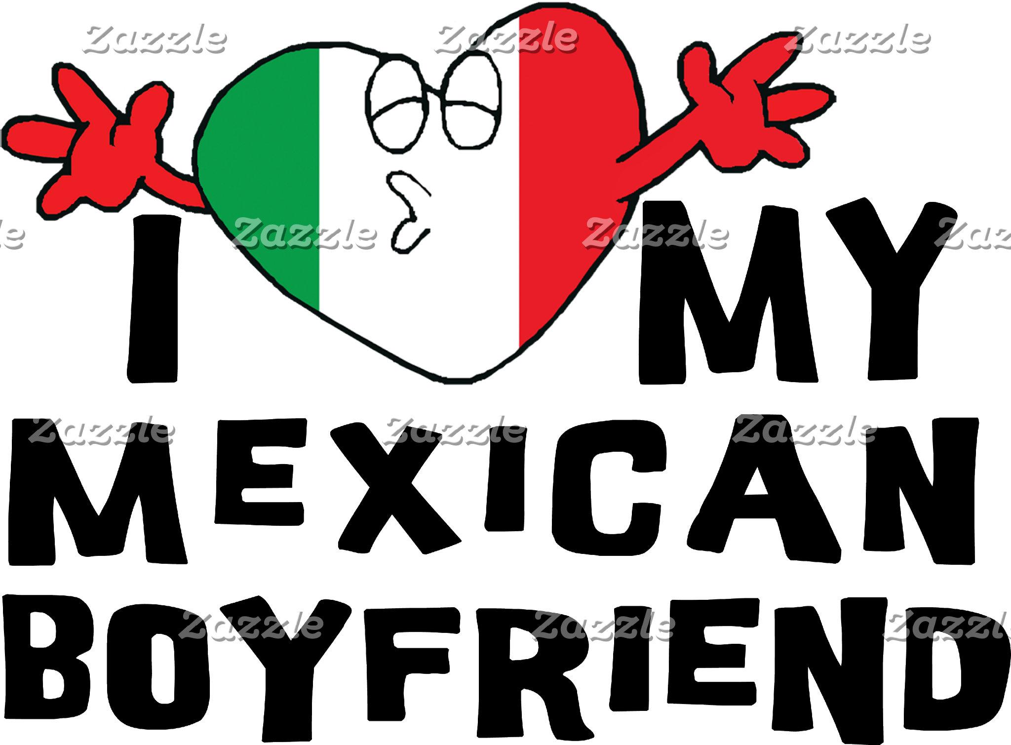 I Love My Mexican Boyfriend T-Shirt Cards Gift