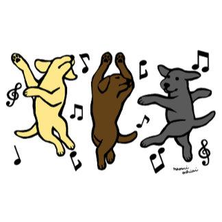Happy Dancing Labrador Trio