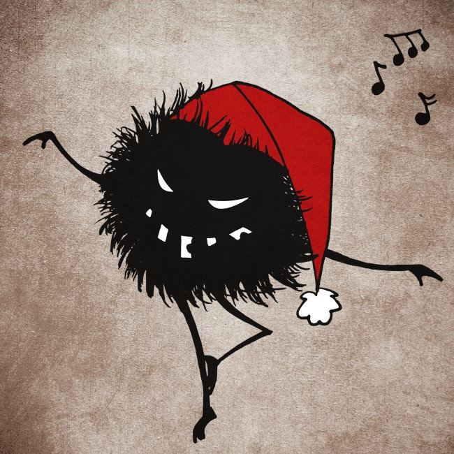 Evil Christmas Bug Dancing