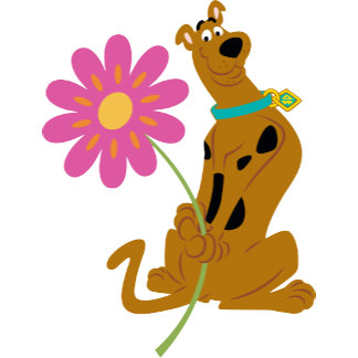 Scooby Holding Flower