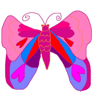 Butterfly - Pink - Love