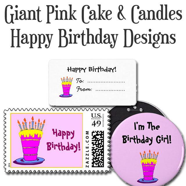 Giant Pink Birthday Cake