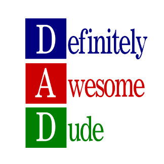 Dad spelled out - Gifts for dads.