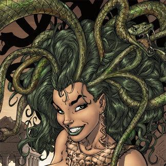 Medusa by Al Rio - Nude with Skulls, Sword, Snakes