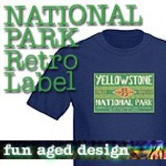Retro Label National Park T-Shirts
