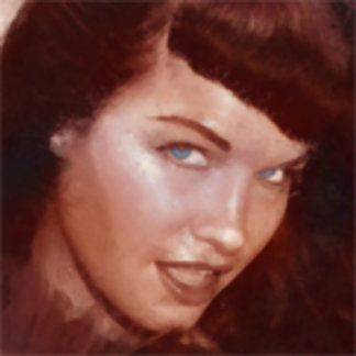 Bettie Page The Queen Of Pinups Art by Paul Nery