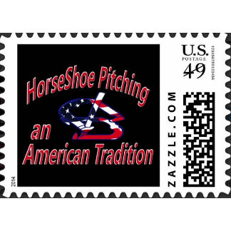 HorseShoe Pitching Postage Stamps