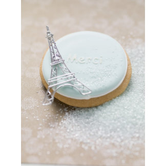 France, Biscuit with blue icing and the word
