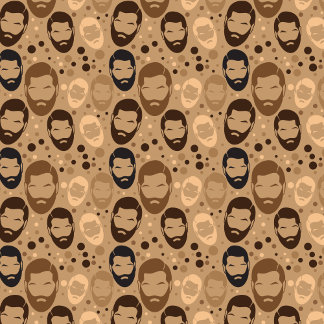 MAN BEARD pattern repeating