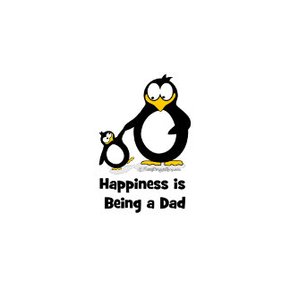 Happiness is Being a Dad Penguin