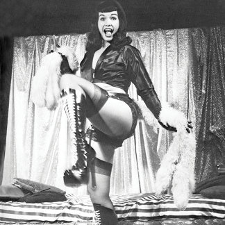 Bettie Page High Stepping in High Heels Pinup