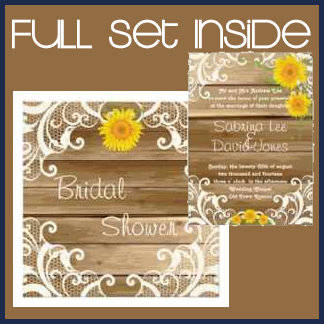 Barn Wood Sunflowers and Vintage Lace Collection