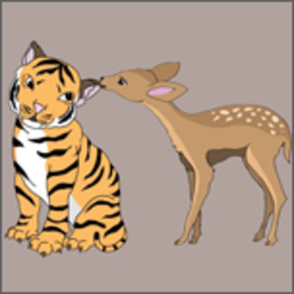 Tiger and Deer