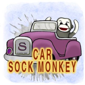 Sock Monkey Car