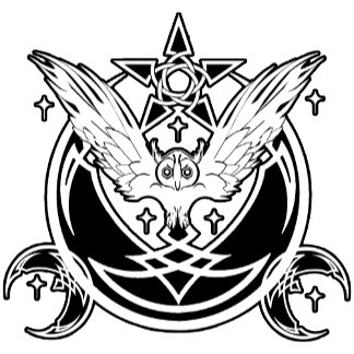 Celtic Crescent Owl Moon
