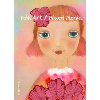 folk art/mixed media