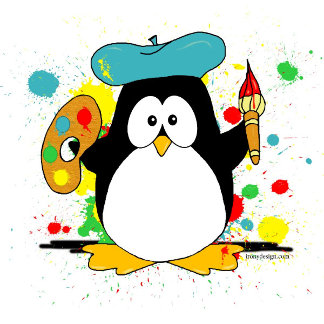 Artistic Penguin Painting Product Gifts