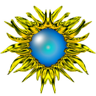 Sunflower Blue Mirror