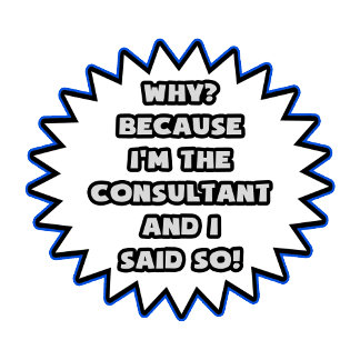 Funny Consultant .. Because I Said So