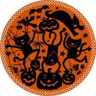 Halloween Cats Jack-O-Lanterns Spiders & Bats