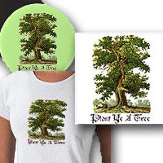 Vintage Oak Tree Custom Green Gardener Slogans