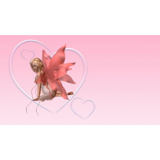 Valentine Fairy and Pink Hearts - 2