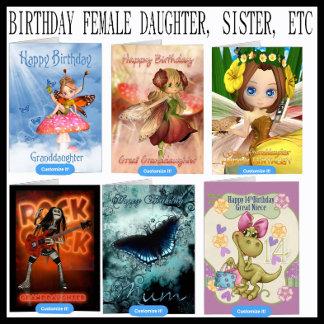 Birthday Female daughter, Sister, Cousin etc