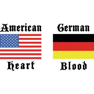 American Heart German Blood T-Shirts