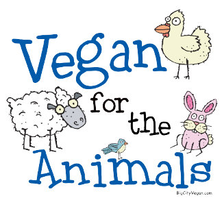 Vegan for Animals t-shirts & gifts