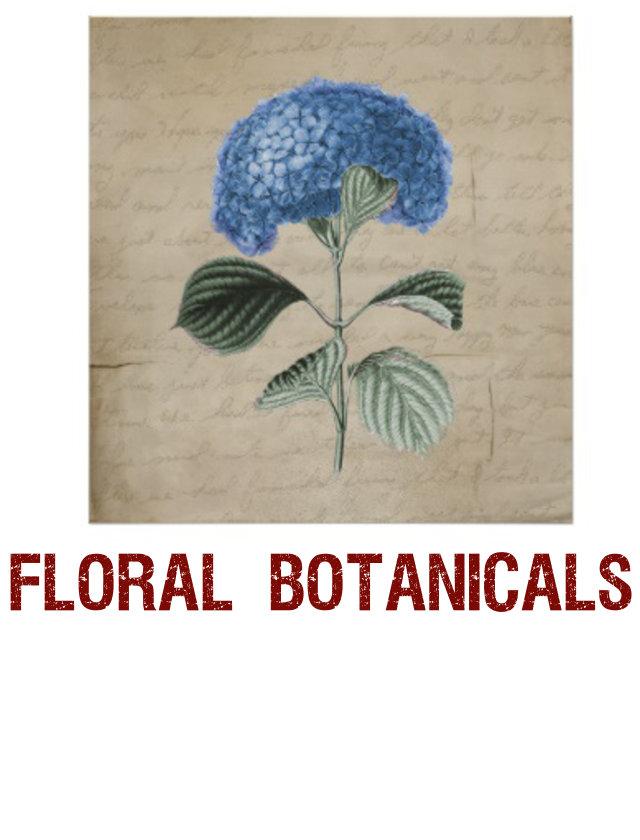 j) floral, botanical and birds