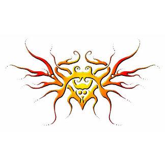 Winged Heart Tribal Tattoo