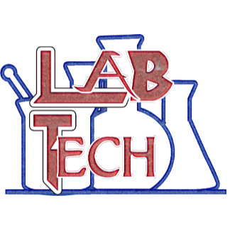 LAB BEAKERS LOGO - LABORATORY MEDICAL SCIENTIST