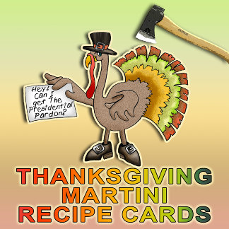 THANKSGIVING MARTINI RECIPE CARDS