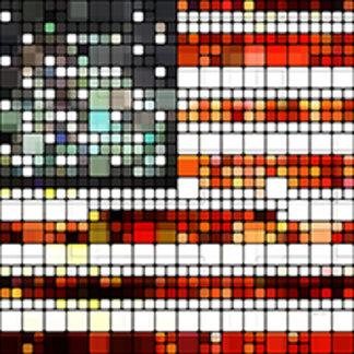 Retro Abstract American Flag