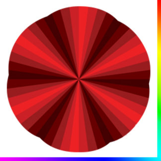 Optical Illusion Red